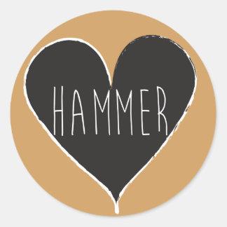 Hammer Throw Love Stickers