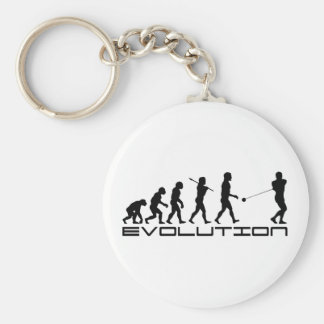 Hammer Throw Sport Evolution Art Key Ring
