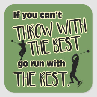 Hammer Throw With The Best- Track Stickers