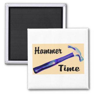 Hammer Time Square Magnet