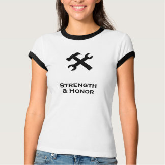 Hammer Wrench Strength And Honor black Tshirts