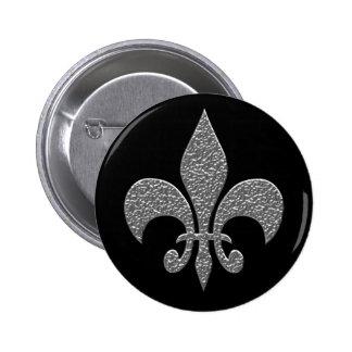 Hammered Alluminum BW 6 Cm Round Badge