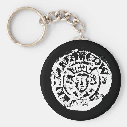 Hammered coin keyring, metal detecting gift key ring