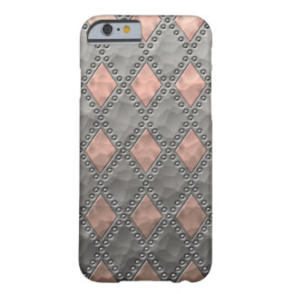 Hammered Copper and Tin Look Diamonds Barely There iPhone 6 Case