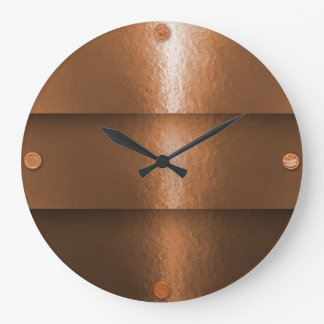 Hammered Copper Layering Large Clock