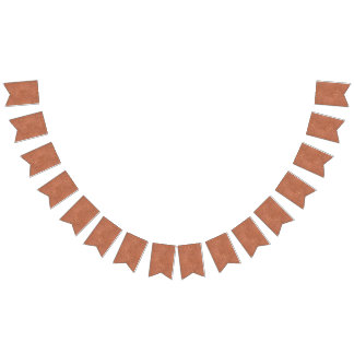 Hammered copper-look design bunting