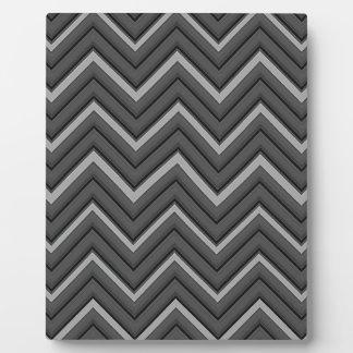 Hammered Metal Chevron City Stripes Plaque