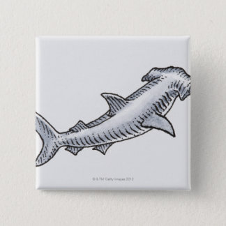 Hammerhead Shark 15 Cm Square Badge