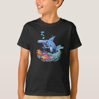 Hammerhead shark cartoon shirt