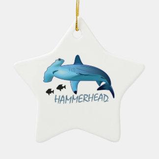 HAMMERHEAD SHARK HAMMERHEAD CERAMIC STAR DECORATION