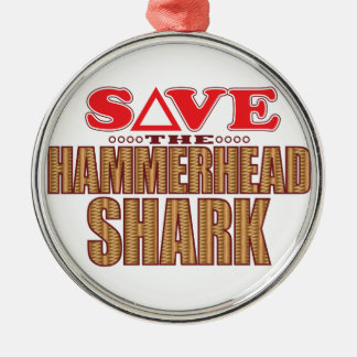 Hammerhead Shark Save Christmas Ornament