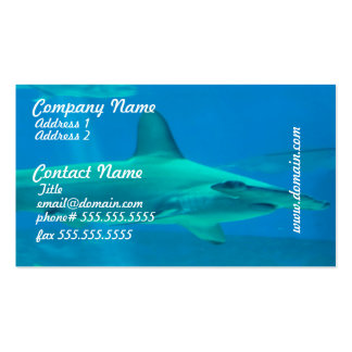 Hammerhead Shark Underwater Business Cards