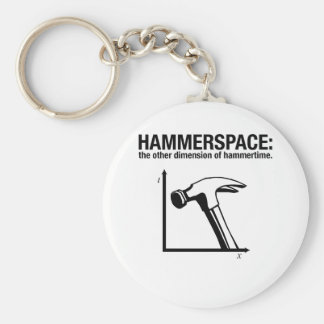 hammerspace: the other dimension of hammertime. basic round button key ring