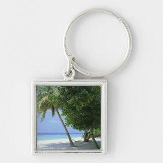 Hammock and Palm Tree Key Ring