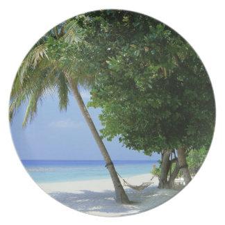 Hammock and Palm Tree Plate