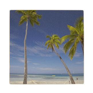 Hammock and palm trees, Plantation Island Resort Wood Coaster