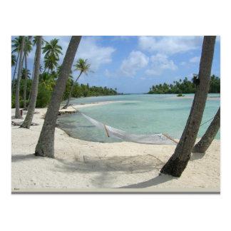 Hammock in Paradise Postcard