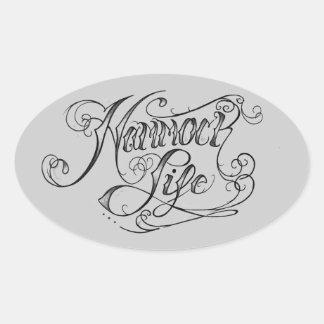 Hammock Life Oval sticker
