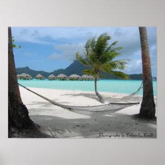Hammock on Bora Bora Poster