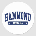 Hammond Indiana College Style tee shirts Sticker