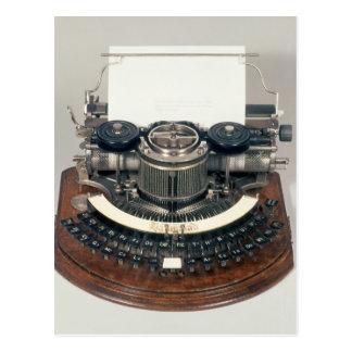 Hammond typewriter, with the ideal keyboard postcard