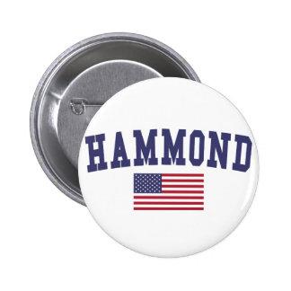 Hammond US Flag 6 Cm Round Badge