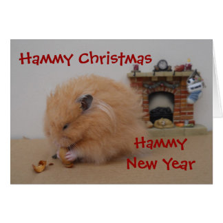 Hammy Christmas Greeting Card
