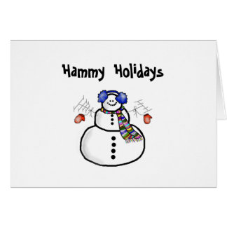 """Hammy Holidays"" Christmas Greeting Card"