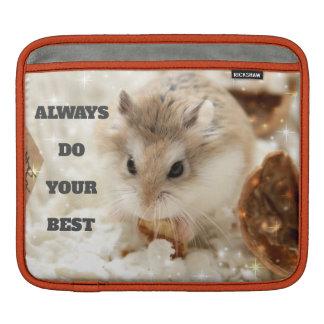 Hammyville - Cute Hamster Always Do Your Best iPad Sleeve