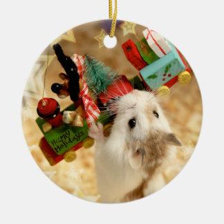 Hammyville - Cute Hamster Christmas Ornament