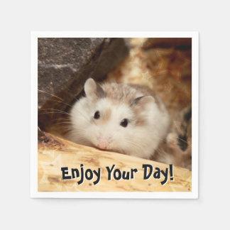 Hammyville - Cute Hamster Disposable Serviettes