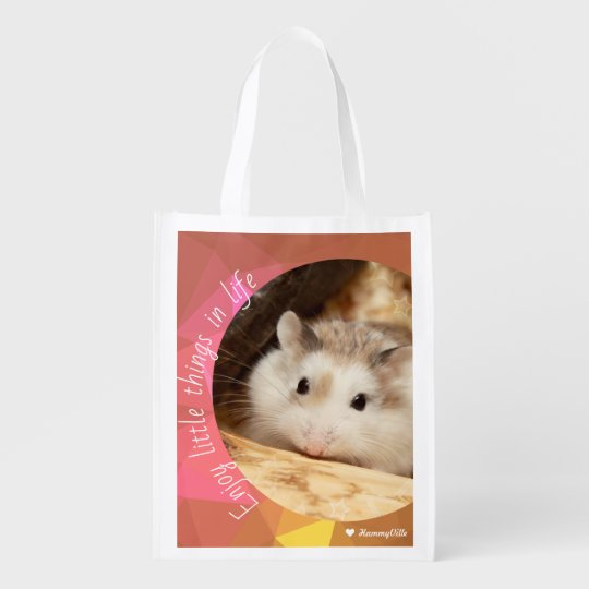 Hammyville - Cute Hamster Enjoy Little Things Reusable Grocery Bag