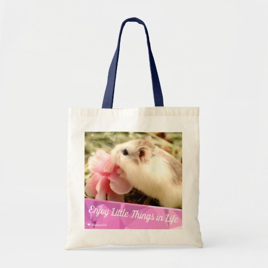 Hammyville - Cute Hamster Enjoy Little Things Tote Bag