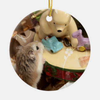 Hammyville - Cute Hamster Holiday Christmas Ornament