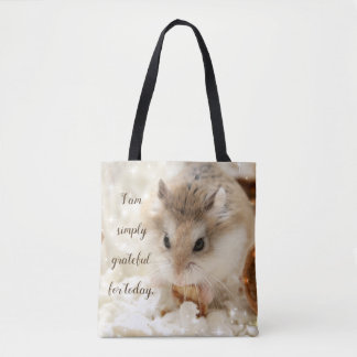 Hammyville - Grateful Hamster Tote Bag