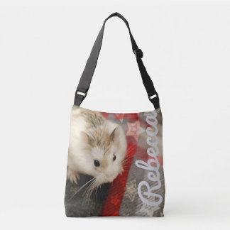 Hammyville - Hamster on Flanel Crossbody Bag