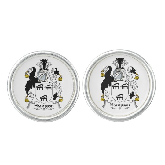 Hampson Family Crest Cuff Links