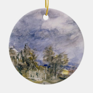 Hampstead Heath from near Well Walk, 1834 (w/c) Christmas Ornament