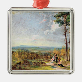 Hampstead Heath Looking Towards Harrow, 1821 (oil Christmas Ornament