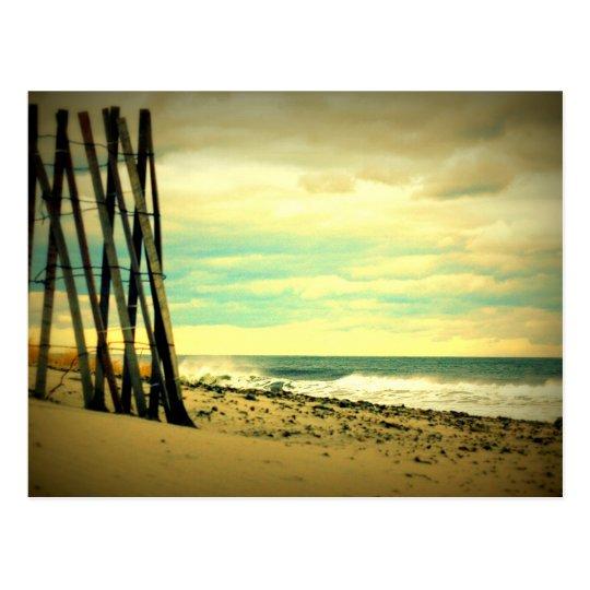 Hampton Beach Fence Postcard