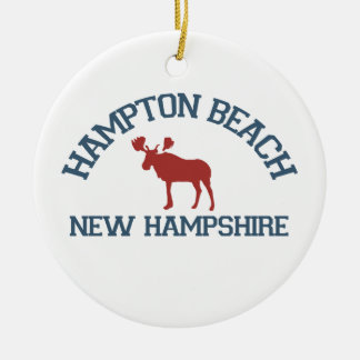 Hampton Beach - Moose Design. Christmas Ornament