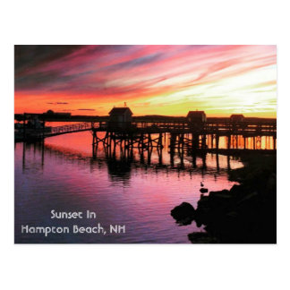 Hampton Beach Sunset Postcard