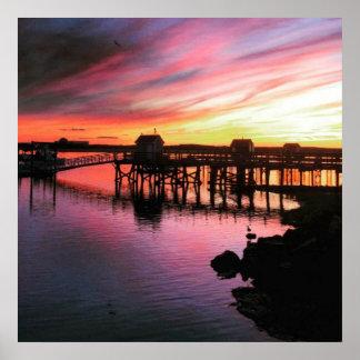 Hampton Beach Sunset Poster