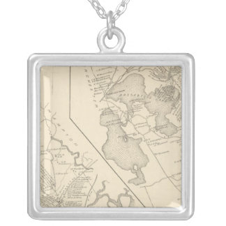 Hampton Falls, Auburn Silver Plated Necklace