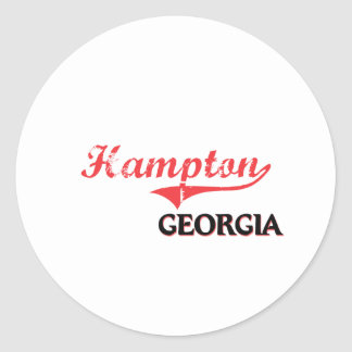 Hampton Georgia City Classic Round Stickers