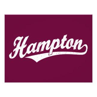Hampton script logo in white distressed custom flyer