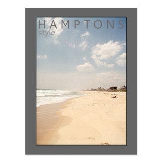 Hamptons Style Beach Postcard