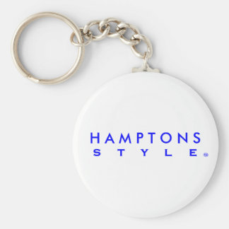 Hamptons Style Blue letter Key Chain
