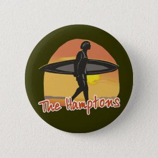 Hamptons Surf 6 Cm Round Badge