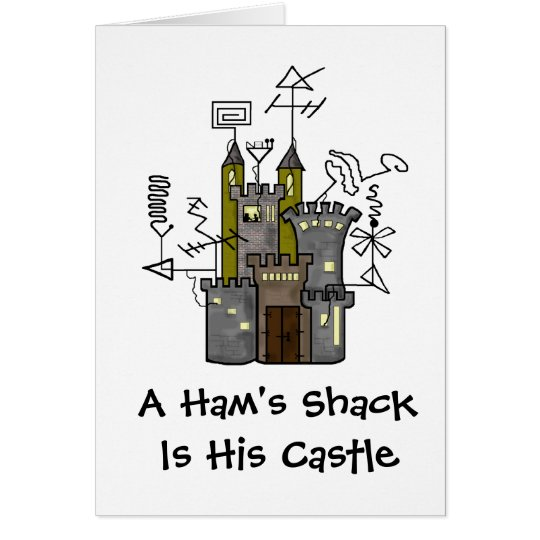 Ham's Castle Shack Greeting Card Customise It!